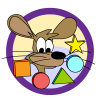 Shape theme icon, mouse with shapes